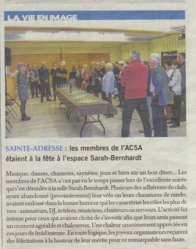 Article soire e de l acsa du journal du 28 01 17