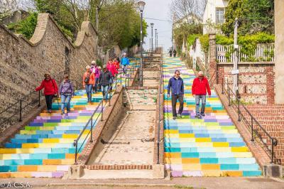 Les escaliers du HAVRE par Dominique