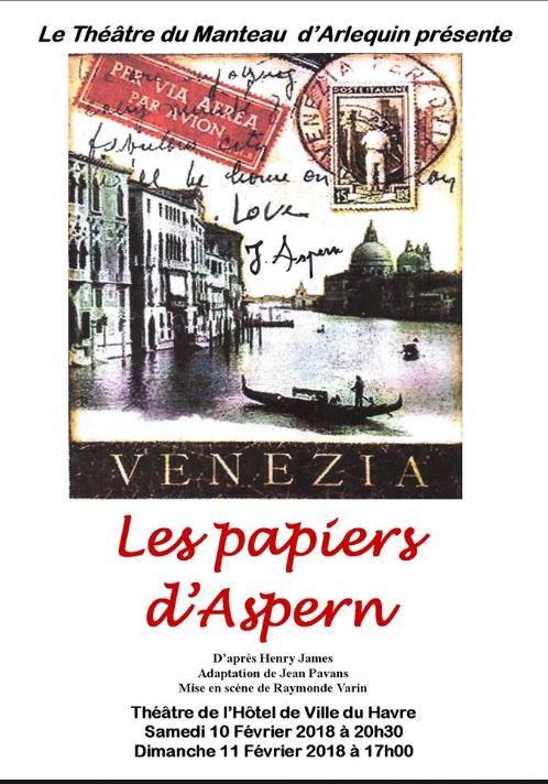 Théâtre au THV : les papiers d'Aspern